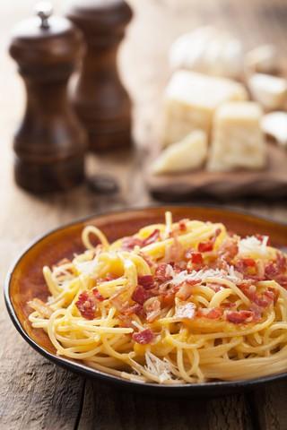 spaghetti carbonara med fløte