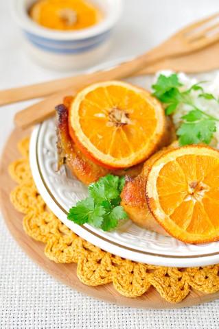 Ovnsstekt kylling med appelsin