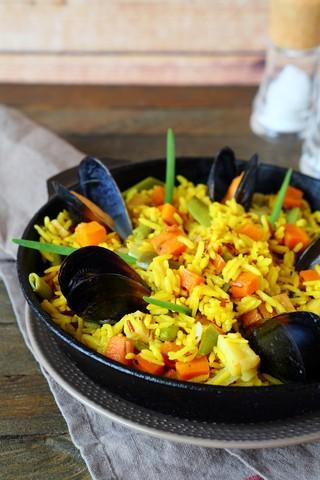 Paella Skalldyr - havets delikatesser