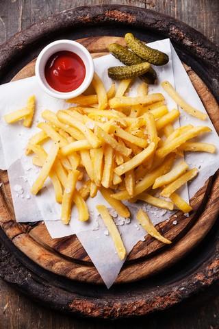 Pommes frites med hjemmelaget ketchup
