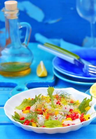 Ceviche av torskeloin