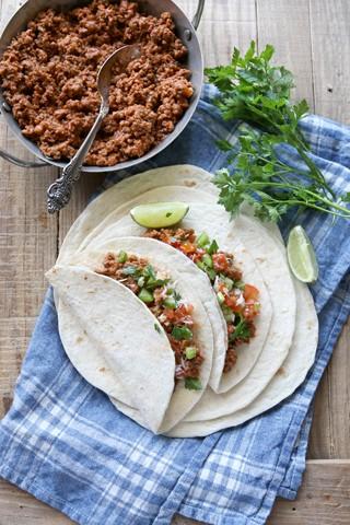 Taco med kjøttdeig og pico de gallo