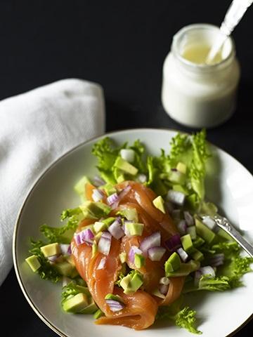 Salat med røkelaks