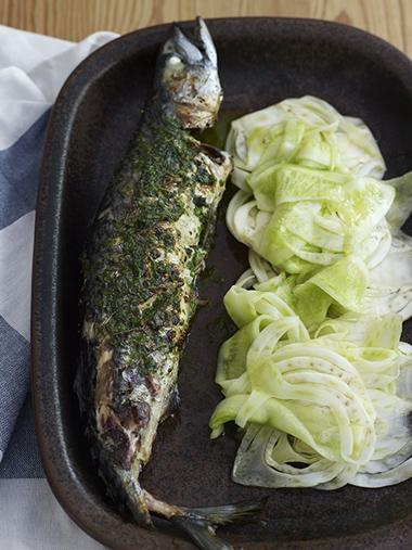 Grillet makrell med fennikelsalat