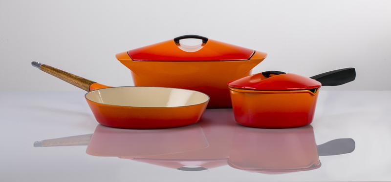 le-creuset-stekepanne-og-sausegryte-i-oransj