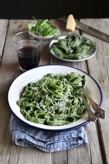 Spinatpasta - Slik lager du spinatpasta
