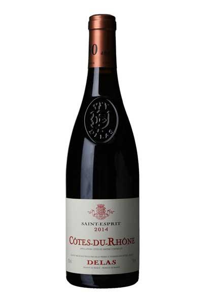 Vin til skrei og torsk Delas Saint-Esprit Côtes du Rhône 2014