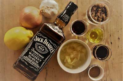 Jack Daniels saus ingredienser