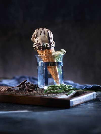 Sjokolade og lakris iskrem