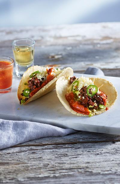 Taco med oksekjøtt kjøttdeig