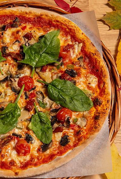 Vegetar pizza uten kjøtt