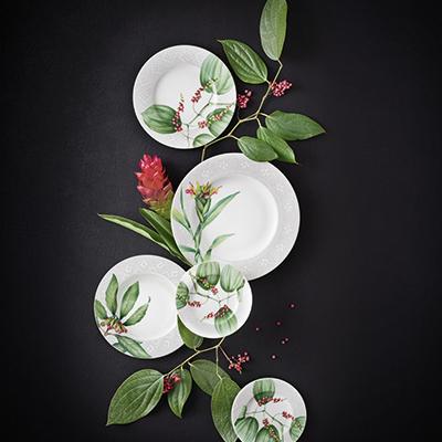 Villeroy & Boch har ikke brukt å ha mye grønt på servisene, men i år kommer friske «Malindi» på det norske markedet.