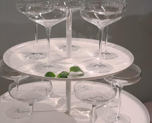 Eva Solo har lansert sine Champagne Coupe med deres ikoniske skråkant.