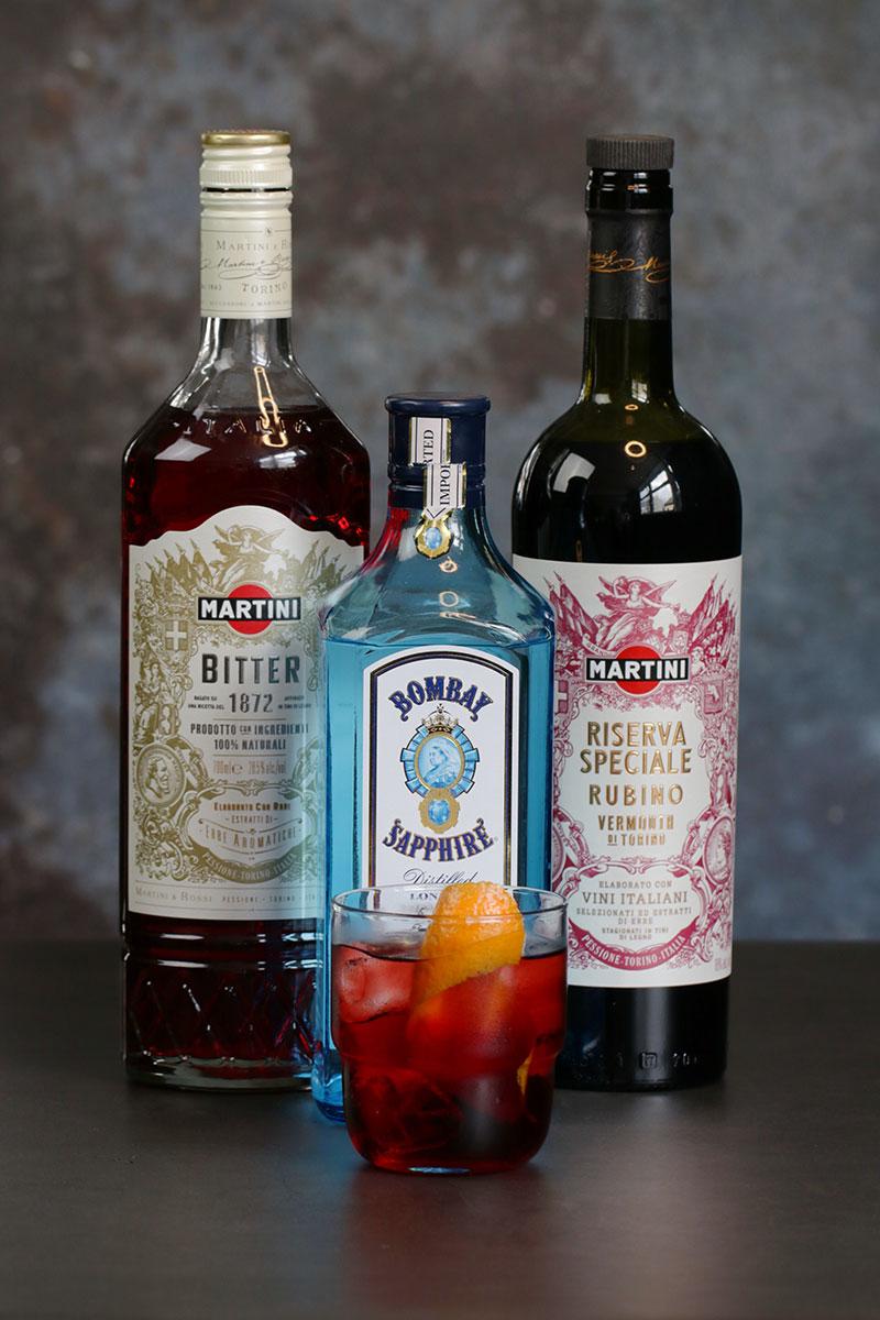Sapphire Negroni Bombay Martini riserva Bitter Rubino
