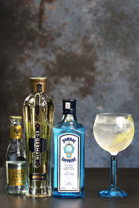 Spring blossom bombay sapphire st.germain fevertree orginal tonic