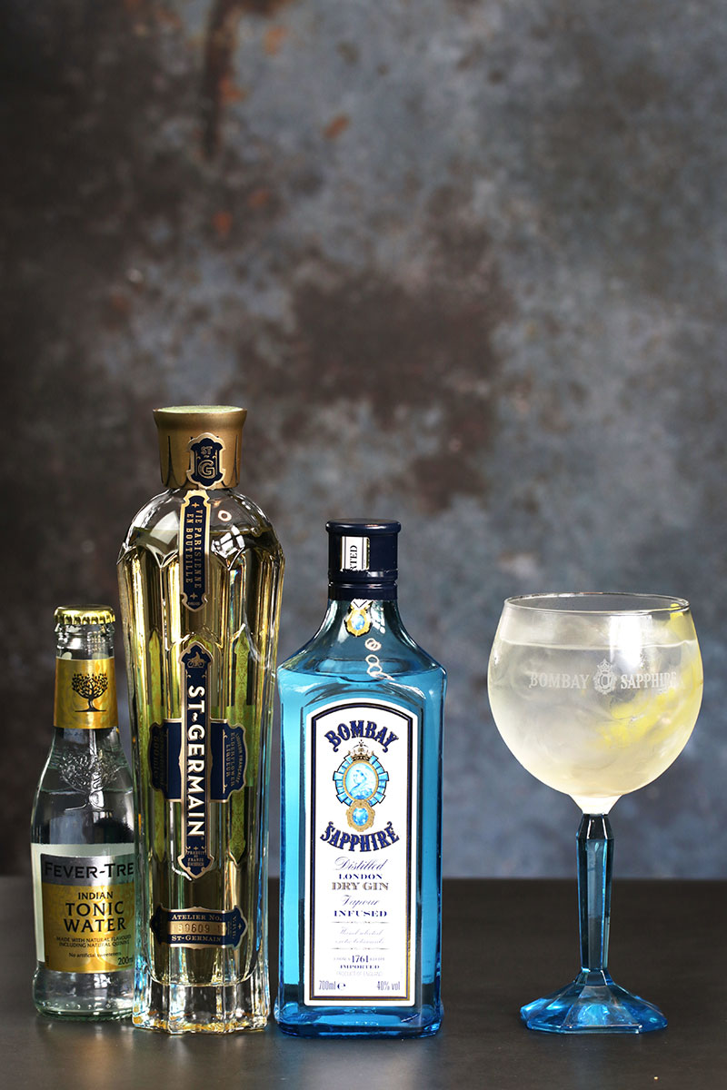 Spring blossom bombay-sapphire-st.-germain-fevertree-orginal-tonic