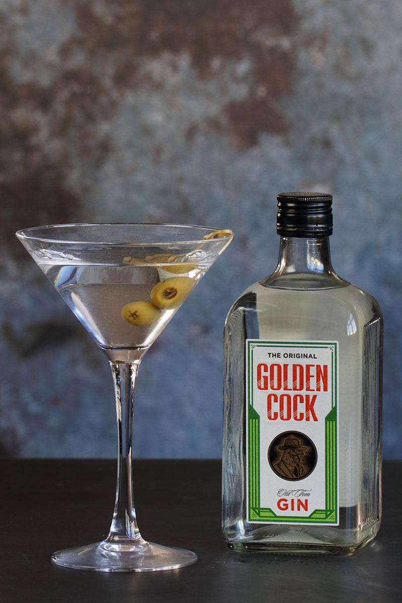 Golden cock dry martini Oslo ginfestival